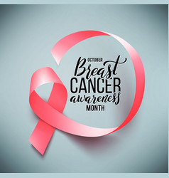 poster with handdrawn lettering breast cancer vector image