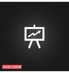 Presentation billboard icon symbol Flat modern vector