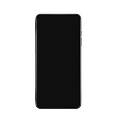 realistic smartphone mockup with black screen vector image