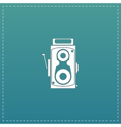 Retro professional cinema film camera vector