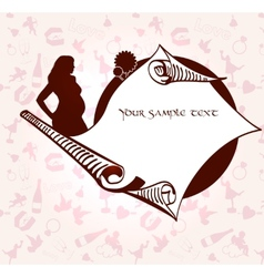 Romance and pregnancy medallion vector