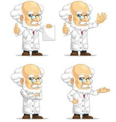 Scientist or Professor Customizable Mascot 13 vector image