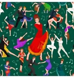 Seamless pattern Dancing People Dancer Bachata vector