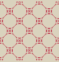 Seamless pattern in asian style red and beige vector