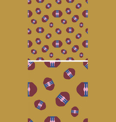 Seamless pattern with maroon capsules on mustard vector