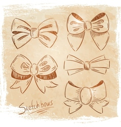 Set of bows sketch vector