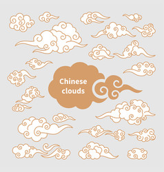 Set of chinese clouds vector