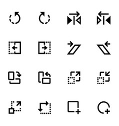 Set of design action icons vector