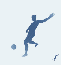 Silhouette of a football player sport symbol vector