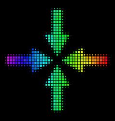 Spectrum pixel collide arrows icon vector