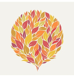 Stylized autumn leaves vector
