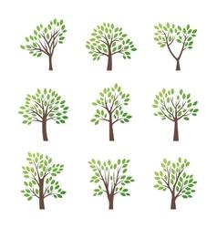 Stylized tree logo icon vector image