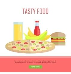 Tasty Food Concept Web Banner vector image