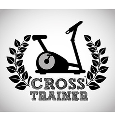 train hard vector image
