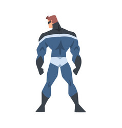 View from behind man superhero character in vector