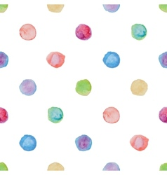 Watercolour polka dot seamless pattern vector image