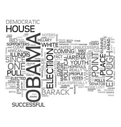 Who is barack obama text word cloud concept vector