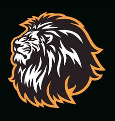 wild lion head logo mascot sports design vector image