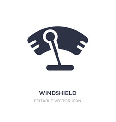 Windshield icon on white background simple vector
