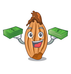 With money ripe shallot isolated on a mascot vector