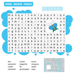 words puzzle children educational game learning vector image