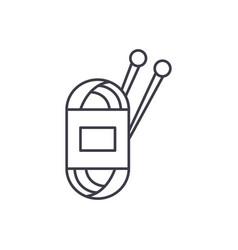 yarn line icon concept yarn linear vector image