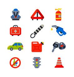 auto transport motorist icons symbols change vector image