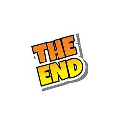 cartoon comic text the end vector image