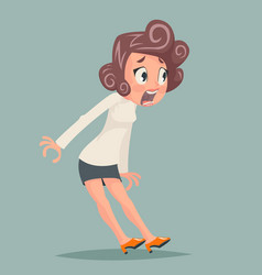 female stress shok emotion fear horror depression vector image