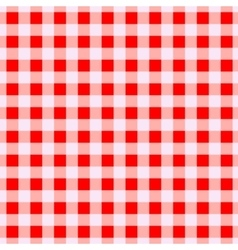 Geometric red cells seamless pattern vector image