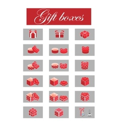 giftboxes vector image vector image