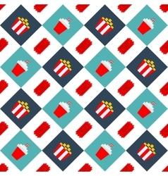 Movie Cinema seamless pattern background2 vector image