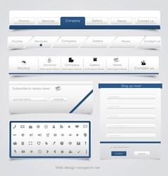 Web site navigation menu pack 4 vector image