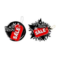 Black friday sale design on white background vector image