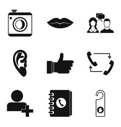 call recording icons set simple style vector image vector image