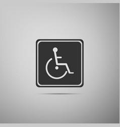 disabled handicap icon wheelchair handicap sign vector image