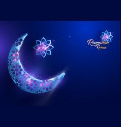 ramadan kareem greetings card design background vector image