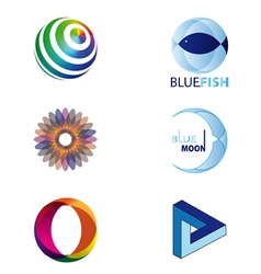 set of logos or design elements vector image