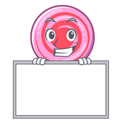 grinning with board cute lollipop character vector image