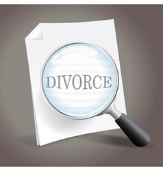 Looking at Divorce vector image vector image