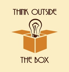 OUTSIDE THE BOX1 vector image vector image