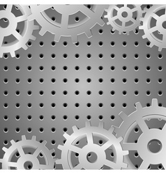 silver background with metallic wheels vector image vector image