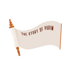 story of purim jewish acient scroll banner vector image