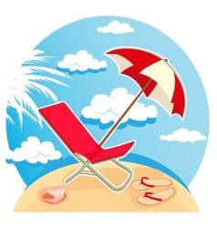 summer tropical beach vector image