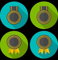 Award or badge with ribbons and decoration Modern vector image vector image