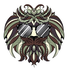 Lion hipster4 vector