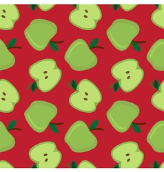 seamless apple pattern vector image vector image