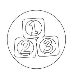 123 blocks icon vector