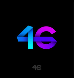 4 g logo fourth generation mobile networks vector
