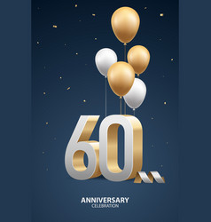 60th year anniversary background vector